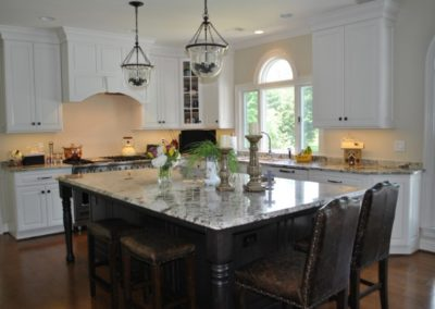 Bright Kitchen with Dark Island