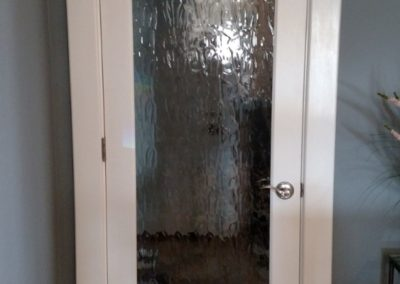 Custom Trim with Obsured Glass Door