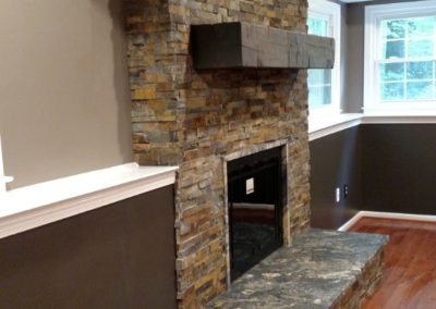 Fireplace - Stacked Stone and Timber - 2 of 2