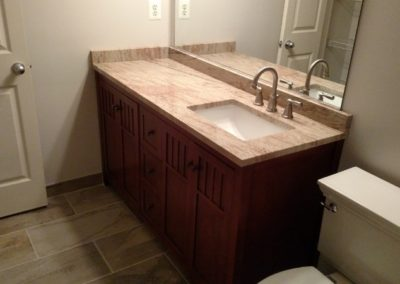 Square Sink on Right Side