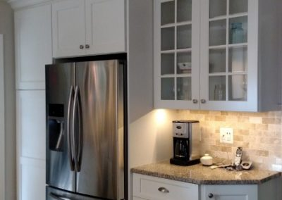 White Kitchen with Angle Cabinet - 2 of 2
